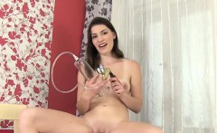 Sexy girl plays with her pussy