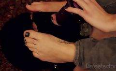 Foot Domination Humiliation - Sucking Dildo From Feet