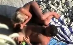 Mature horny Couple voyeured on Nude Beach