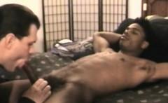 DILF loves sucking bbc on young straight ebony hunk