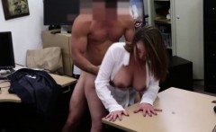 Doing business with a blonde gets horny