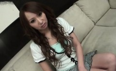 Casting couch shy asian stretching ass