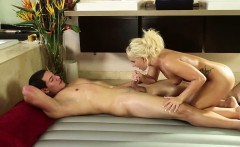 Natural tits and blonde Cali Carter gets fucked