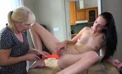 Old mature take off her panties