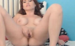 Hot MILF Oiled Up And Slides Her Dildo Inside her Cunt