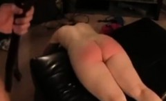 After spanking allowed to suck his cock