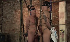 Sebastian likes to tie and give Double handjobs with twinks