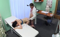 Doctor fucks bent over sexy patient