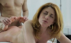 Angel gets her shaved twat ravished by rubber