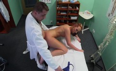 Real patient doggystyle fucked in doctors office