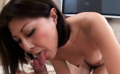 Cute mama rams 2 cocks in her mouth and gets creamed