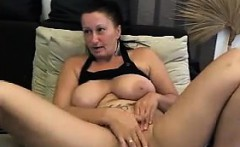 Horny Mature Whore Rubs Her Pussy