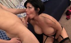 Tit Fucked Brunette Cougar