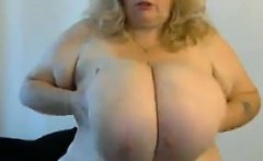 Blonde BBW With Huge Breasts