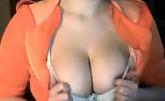 Cute Chick Teasing Her Tits