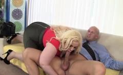 Platinum blonde BBW Klaudia Kelly takes a fat dick