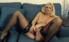 English 44 old lovely MILF with sexy lingerie