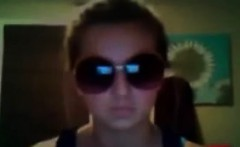 Naughty Teen Wearing Sunglasses