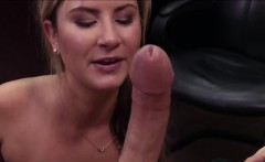 sexy waitress takes on a big cock