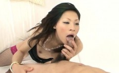 Ryo Sasaki enjoys cock deepi in her juicy bush