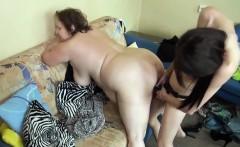 Milf strapon fucks large mature woman