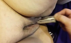 PLeasuring her BBW Pussy with a Vibrator