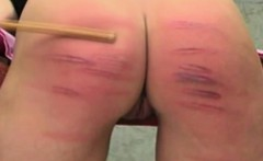 Naughty cunt gets spanked