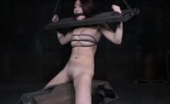 Bonded submissive trash in footdomination