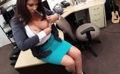 Busty MILF fucked by pawn keeper for her husbands bail