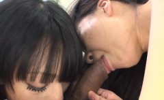 Japanese chick gets uncouth anal fucking after twat shaving