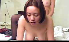 Toying lesbian girlfriends with strapons