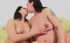 Pregnant slut has some naughty lesbian fun