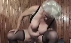 Blonde Bertha Granny Gets Boned