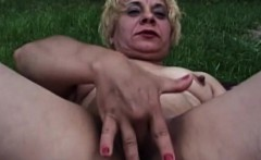 Blonde Masturbating Granny