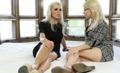 Nina Elle seduces her new innocent roommate Tara Morgan