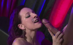 slutty german girl begs for a ton of cum on her
