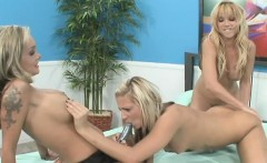 Three blonde lesbians bring out their toys to fuck some wet holes