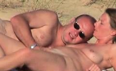 German pair cam fuck on beach