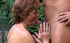 cock hungry mature woman bends over to have her firm ass slammed