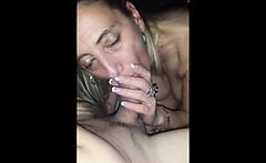 Beautiful wife pleasing her husband - POV