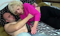 Granny Gets Shagged By A Vibrator