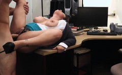 Brunette MILF flaunts tits for cash