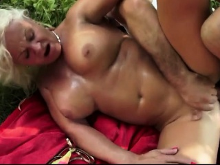 Big Boobs Grandma Wants Her Ass Fucked By Gra