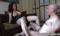 Thick brunette girl gets her tight pussy