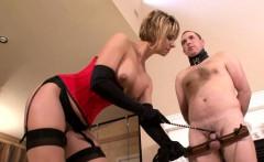 Milf loves torturing her male slave