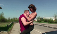 two boys pick up teen hitchhiker and fuck her in bus stop