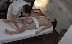 brunette czech girls gets hard fuck in massage room