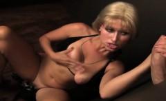 Dirty Blonde Whore Enjoys Sucking Massive Cock