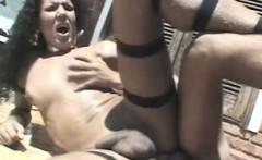 Brazen Brazilian Shemale With Perky Boobs Rides A Hard Cock In The Sun