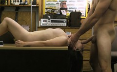 Babe pawns her pussy and pounded hard at the pawnshop